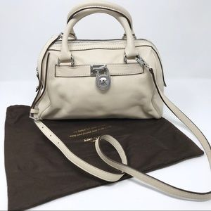 Michael Kors Padlock Leather Barrel Bag Crossbody